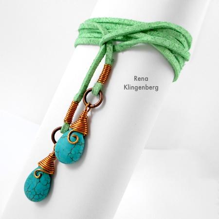 Wrap Ankle Bracelet with Briolettes (Tutorial)