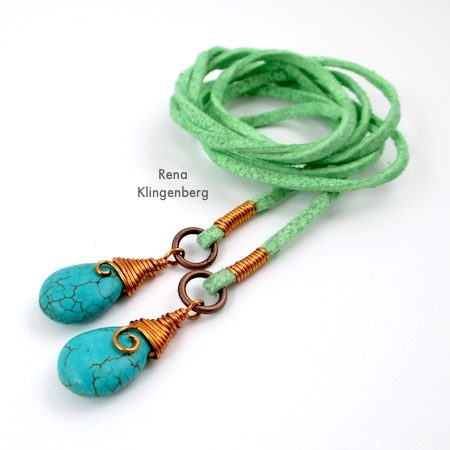 Wrap Ankle Bracelet with Briolettes Tutorial by Rena Klingenberg
