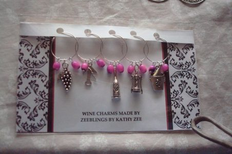 Wine Charms - How to Display and Package, by Kathy Zee  - featured on Jewelry Making Journal