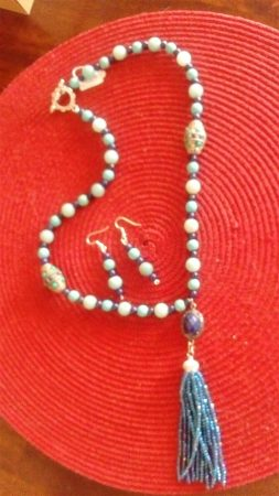 Mala Bead Necklace by Patricia Whitelow  - featured on Jewelry Making Journal