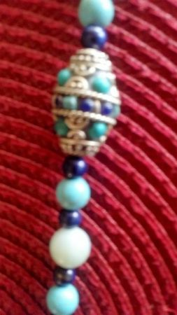 Tibetan Bead Necklace by Patricia Whitelow  - featured on Jewelry Making Journal