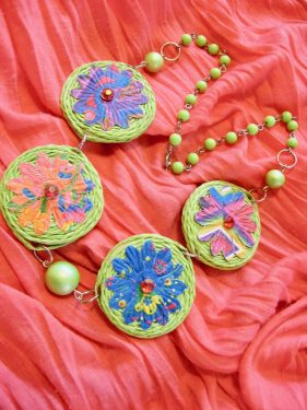 Spring in Watership Down Floral Necklace