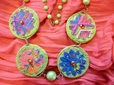 Spring in Watership Down Floral Necklace by Tamara Robertson  - featured on Jewelry Making Journal