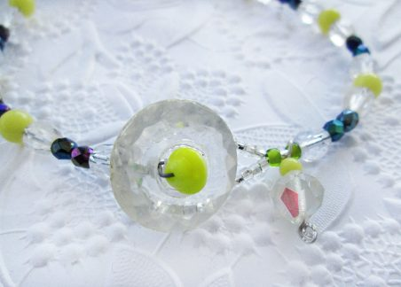 Forsythia Necklace by Jackie Locantore  - featured on Jewelry Making Journal
