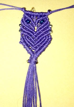 Macrame Owl by Naomi Flynn  - featured on Jewelry Making Journal