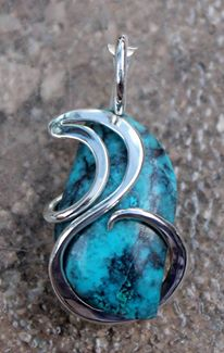 Cold Forged Pendant Settings by Dennis Hardy  - featured on Jewelry Making Journal