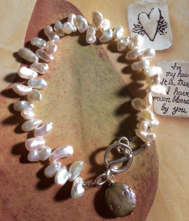 Pearl and Sterling Silver Bracelet by Liz Juneau  - featured on Jewelry Making Journal