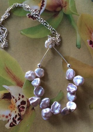 Petal Pearl Necklace by Liz Juneau  - featured on Jewelry Making Journal