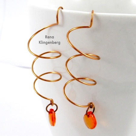 Wire Helix Earrings (Tutorial)