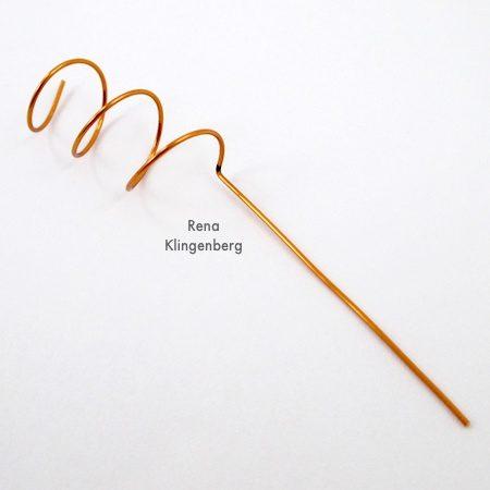 Wire Helix Earrings Tutorial by Rena Klingenberg - making the earwire