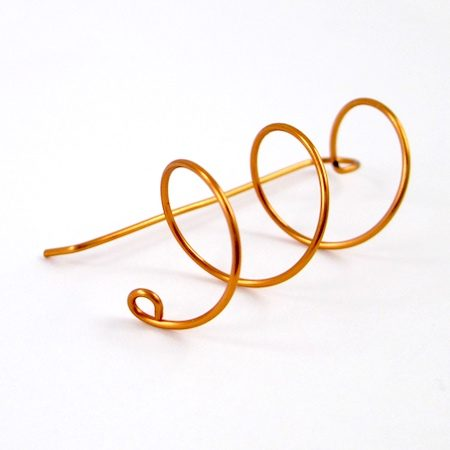 Wire Helix Earrings Tutorial by Rena Klingenberg - making the small wire loop