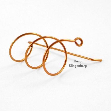 Pendientes de hélice de alambre (Tutorial)