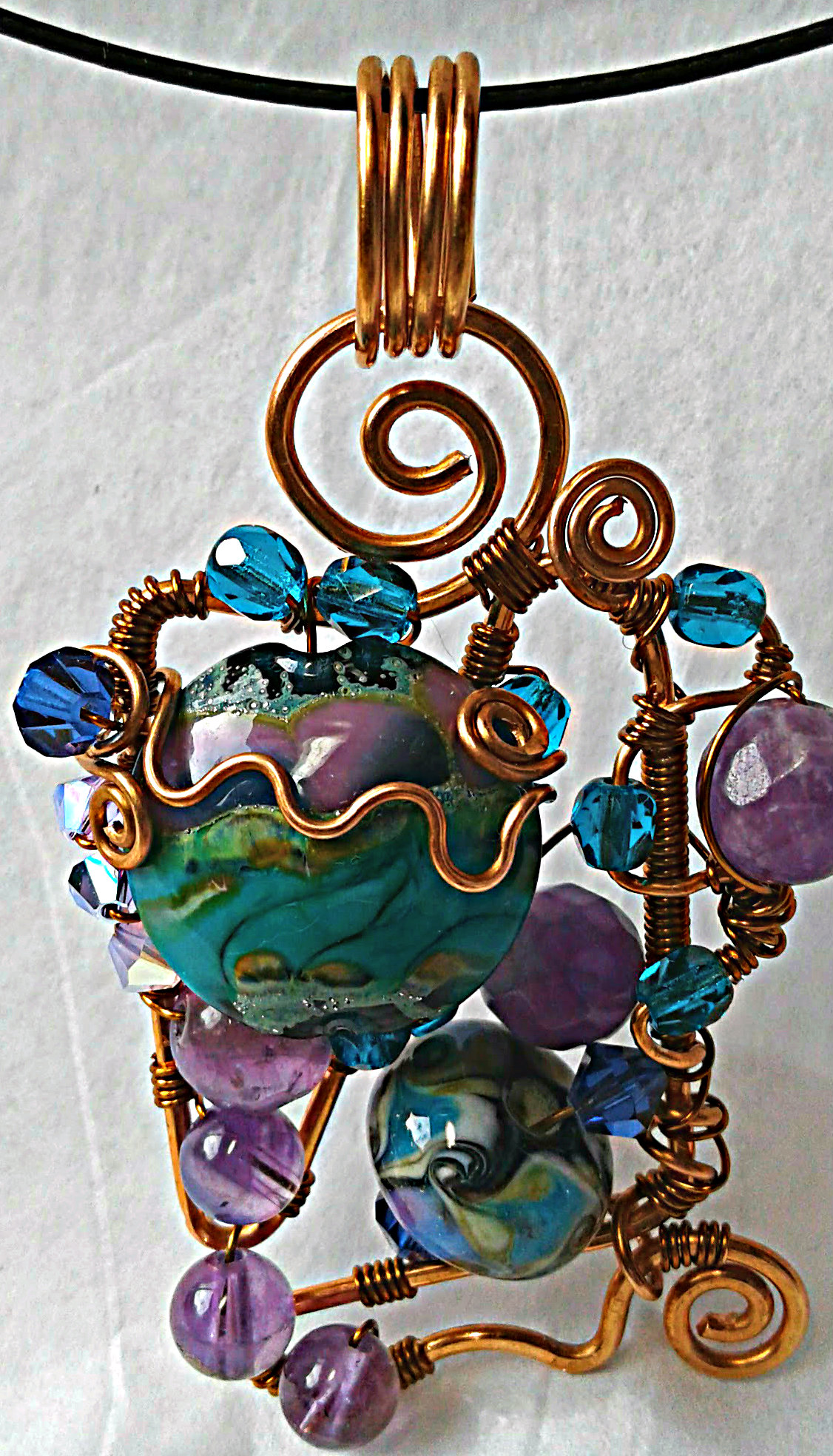 Bead Soup Pendant (and Winner)