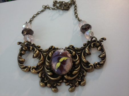 Gothic Baroque Bib Necklace by Geraldine Farkas  - featured on Jewelry Making Journal