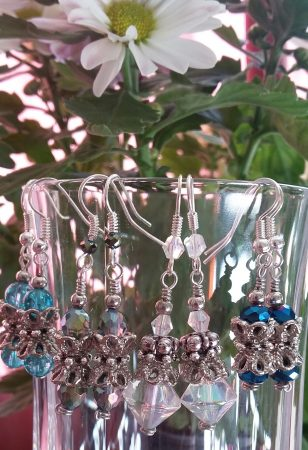 Crystal drop earrings by Louise  - featured on Jewelry Making Journal
