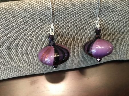 Murano Glass Earrings by Patti Pojer  - featured on Jewelry Making Journal