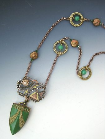 Repurposing Antique Brooches and Buckles into Jewelry by Myra Schwartz  - featured on Jewelry Making Journal