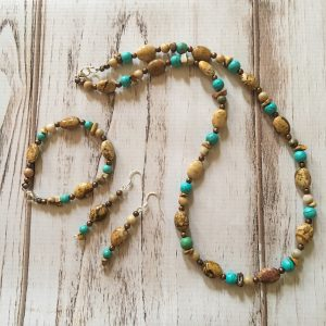 Picture Jasper and Turquoise Jewelry Set from My Dirt Road Collection