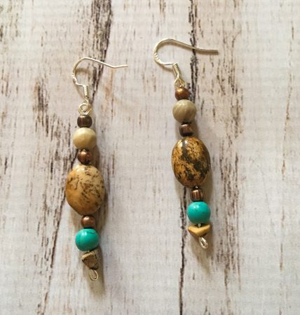 Picture Jasper and Turquoise Jewelry by Christie Dunn  - featured on Jewelry Making Journal