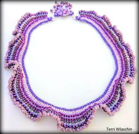 Making Waves - Beadwork by Terri Wlaschin  - featured on Jewelry Making Journal