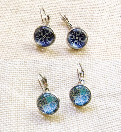 Cork and Azulejos Jewelry by Ana and Cristina  - featured on Jewelry Making Journal