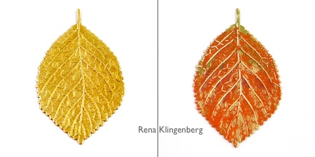 Jewelry Patina Techniques Tutorial by Rena Klingenberg - Layering Patina Colors