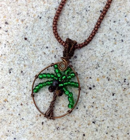 Palm Tree of Life by Kelly Tibbetts  - featured on Jewelry Making Journal