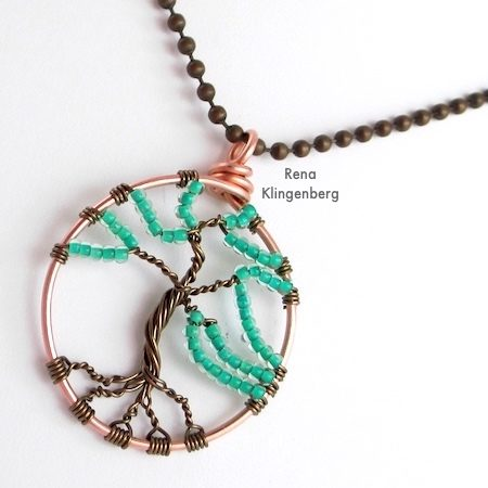 Wire Tree of Life Tutorial by Rena Klingenberg