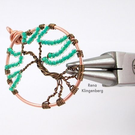 Wire Tree of Life Tutorial by Rena Klingenberg - shaping the wire tree