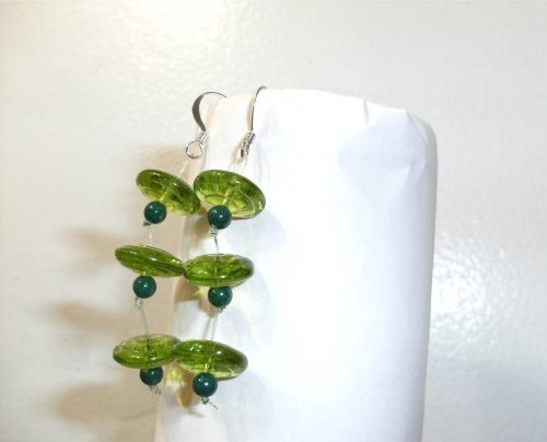 "<img src=""http://jewelrymakingjournal.com/wp-content/uploads/2017/05/DSCF0850-500x375.jpg"" alt=""Green(ery) Long Dangle Earrings by Lyone Fein  - featured on Jewelry Making Journal"" width=""500"" height=""375"" class=""size-large wp-image-49769"" /> Lyone Fein Greenery Earrings #1"