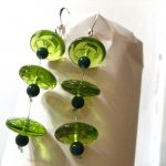 Green(ery) Long Dangle Earrings