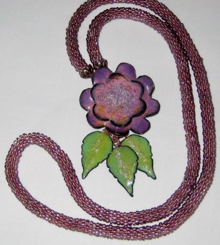 Purple Jewelry by Judy Pagnusat  - featured on Jewelry Making Journal