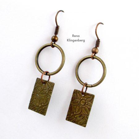 Quick & Easy Hoop Earrings Tutorial de Rena Klingenberg - balanços em formas contrastantes