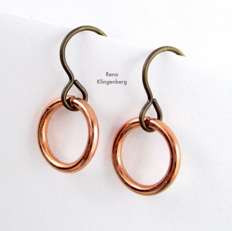 Quick & Easy Hoop Earrings Tutorial by Rena Klingenberg - smaller heavy gauge jump rings