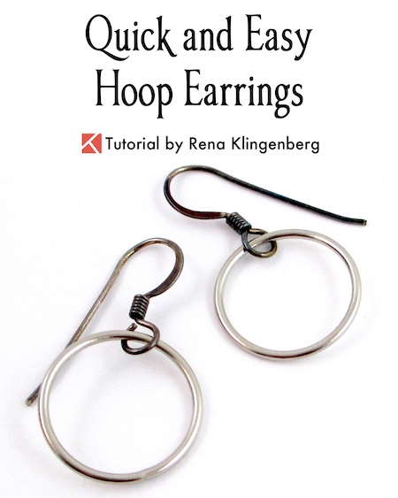 Quick & Easy Hoop Earrings Tutorial by Rena Klingenberg