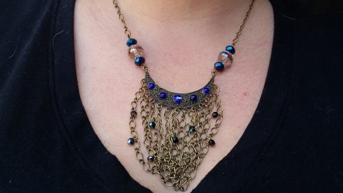 Gypsy Victorian Necklace by Geri Farkas  - featured on Jewelry Making Journal