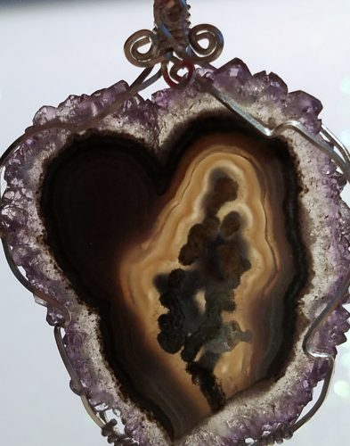 Wire Wrapped Amethyst Stalactite Sterling Silver Pendant by Gay Nace  - featured on Jewelry Making Journal