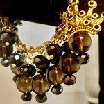 Stunning Smoky Topaz  Dangling Bead Bracelet