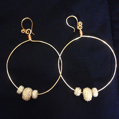 Bling Hoops by Etta Hughes  - featured on Jewelry Making Journal
