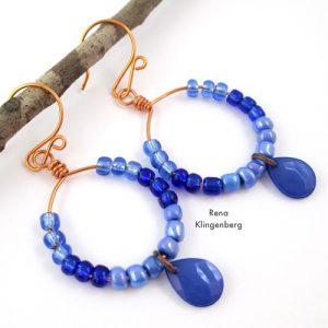 Colorful Hoop Earrings (Tutorial)