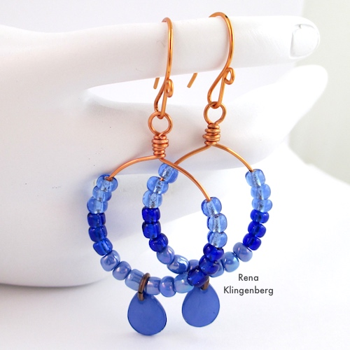 Colorful Hoop Earrings (Tutorial) by Rena Klingenberg