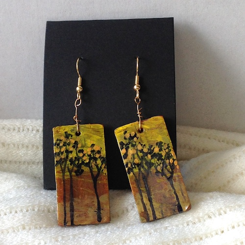 Hand Painted Polymer Clay Jewelry by Deepa Mittimani  - featured on Jewelry Making Journal