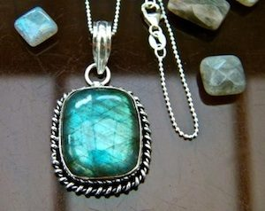 Magical labradorite pendant necklace by Elizabeth of Stones in Harmony  - featured on Jewelry Making Journal