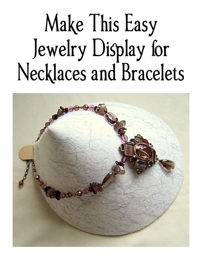 Make This Easy Jewelry Display for Necklaces and Bracelets, by Kotomi Yamamura  - featured on Jewelry Making Journal