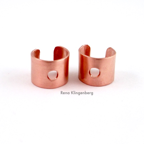 Metal Ear Cuff with Dangle Tutorial by Rena Klingenberg