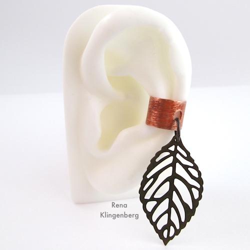 Metal Ear Cuff with Dangle Tutorial by Rena Klingenberg - Jewelry Making Journal