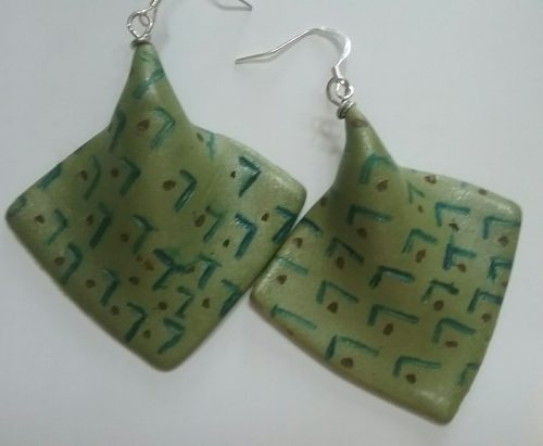 Polymer Clay Earrings with Alcohol Ink, by Safi Toure  - featured on Jewelry Making Journal