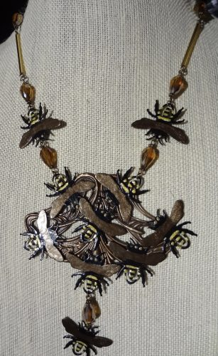 The Beekeeper Necklace... Yep, Paperclips by Debra Lowe  - featured on Jewelry Making Journal