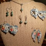 "Denim & Lace and ""Fall-ing"" Leaves Earrings"