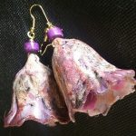 Polymer Clay Earrings with Alcohol Ink